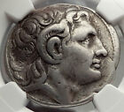 LYSIMACHOS Silver Tetradrachm Ancient Greek Coin ALEXANDER the GREAT NGC i58226