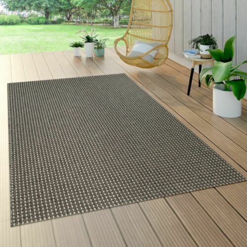 In /& Outdoor Flachgewebe Teppich Sisal Optik Natürlicher Look Uni Anthrazit