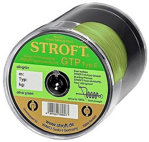 STROFT GTP E 250 m Olivgrün olive Grün Geflochtene Angelschnur von E06 bis E8