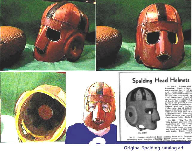 1920-30s Executioner face Mask Leather football helmet  First Facemask helmet