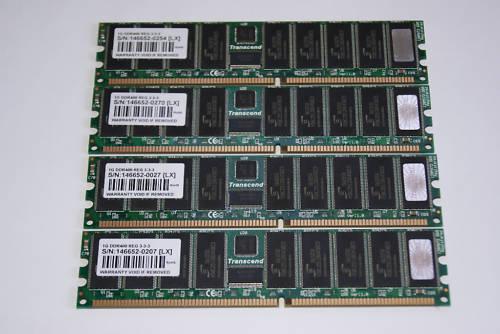DDR400 RAM ECC REG 184-P 4x 1GB TRANSCEND PC3200R 4GB