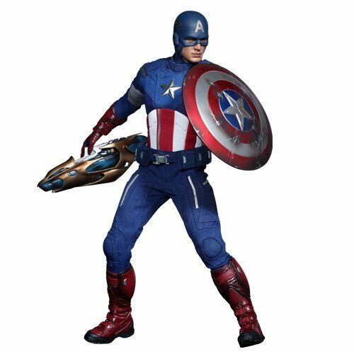 NEW Movie Masterpiece Avengers CAPTAIN AMERICA 1/6 Action Figure Hot Toys Japan