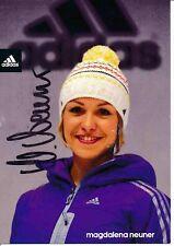 Magdalena Neuner  Biathlon Autogrammkarte original signiert 376939