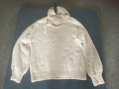Women's Clothing Clothing, Shoes & Accessories 100% True Cyrus Women's M Ivory Turtleneck Bulky Long Sleeved Sweater Nwt 100% Original