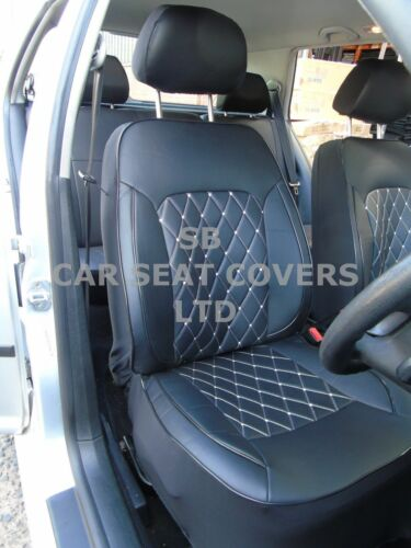 2 FRONTS i ROSSINI DIAMOND-BLACK SEMI FIT A MAZDA BONGO CAR SEAT COVERS