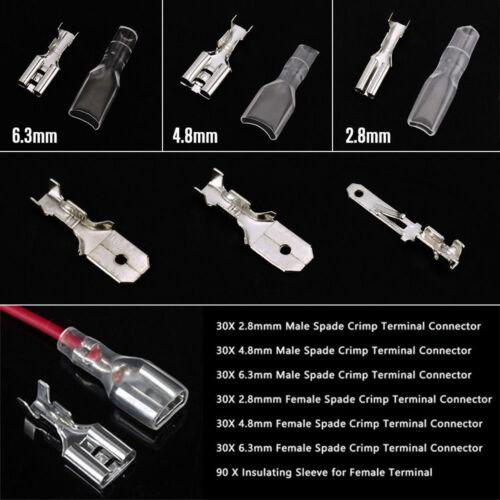 270pcs Kabelschuhe Steckverbinder Sortiment Quetschverbinder Box Flachstecker H5