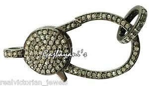 HAND-CRAFTED-MULTI-PURPOSE-PAVE-ROSE-CUT-DIAMOND-32-MM-925-SILVER-LOBSTER-CLASP
