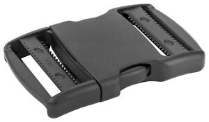100 - 2 Inch YKK Flat Dual Adjustable Side Release Plastic Buckles