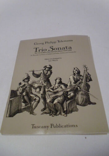 5 in A Minor Recorder Flute Violin Guitar Sheet Music #9D137 Trio Sonata No