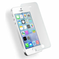 2 pcs 9H Tempered Glass Screen Protector Film Case Cover For Apple iPhone 5 5S