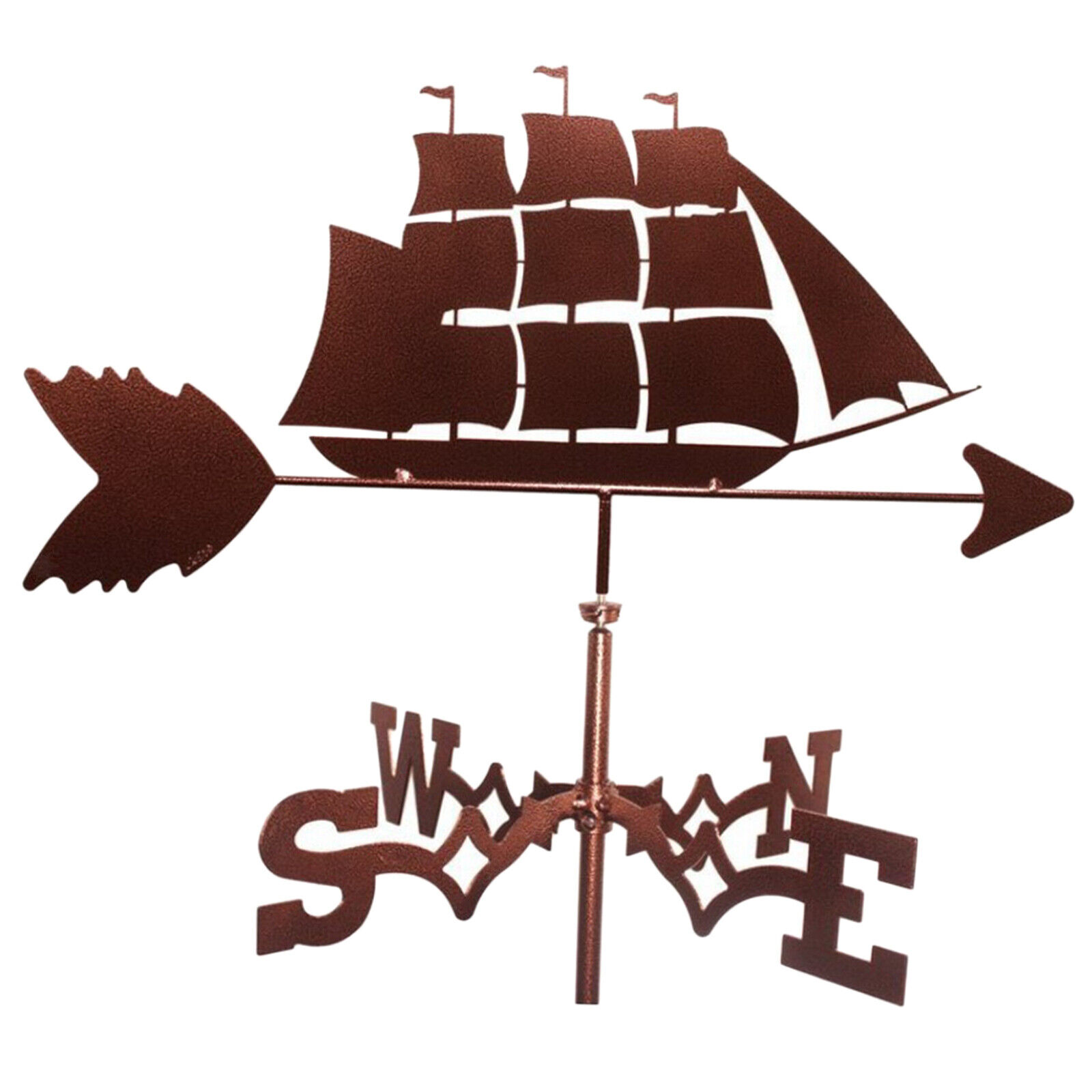 Decorative Stainless Steel Sailboat Weathervane Weather Vane Stake Ornament