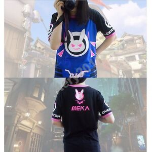 18bf6e9718a Game OW Overwatch D.VA Cosplay Costume t-shirt Tshirt New