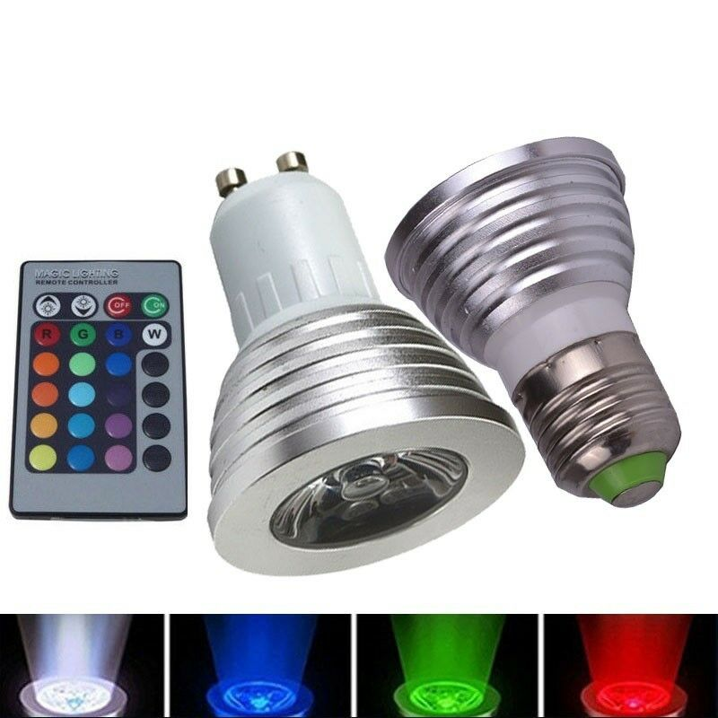 Led Colour Changing Light Bulb With Wireless Remote 12