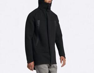2xl Parka de Tech Nike 805142 capucha Full Abrigo Chaqueta Fleece Negro 010 con Zip invierno fxB16x