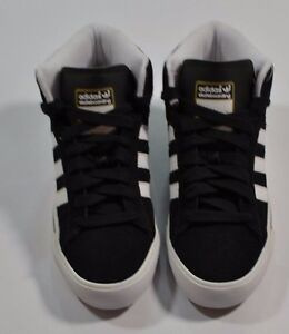 Details about Adidas CAMPUS VULC MID SB Black White Met Gold Discounted (192) Men's Shoes