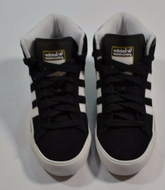 60ff7c6d24469 Adidas CAMPUS VULC MID SB Black White Met Gold Discounted (192) Men's Shoes