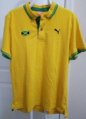 Men's Vintage Puma Jamaican Soccer Polo XXL