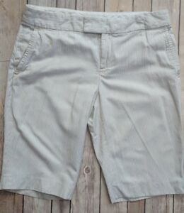 4fe5c72e12 Image is loading Banana-Republic-Womens-Size-4-Pinstripe-Bermuda-Shorts-