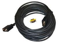 Plenum Vga Cable 50'ft Foot Feet M-m M-f Male/male Male/female Db15 50plmfx