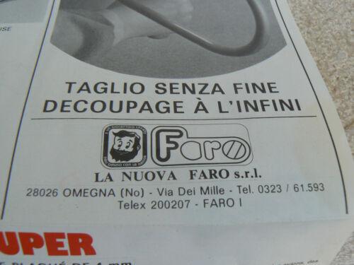NUOVO La Nuova Faro tavola assicella di legno da traforare mod M Cameretta