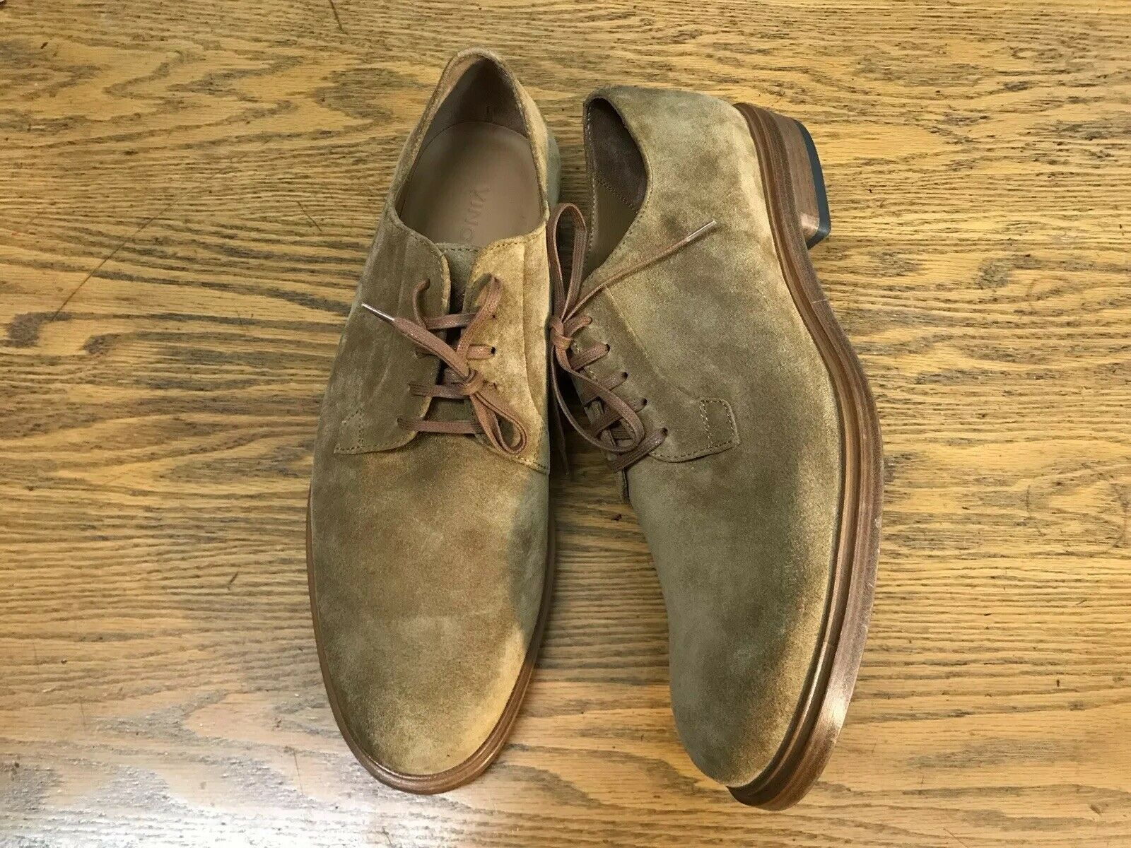 VINCE BOERUM LACE UP SUEDE MENS SHOES NEW SIZE 10