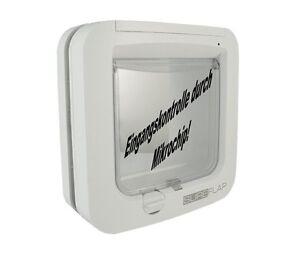 sureflap mikrochip katzenklappe microchip eingangskontrolle wei ebay. Black Bedroom Furniture Sets. Home Design Ideas