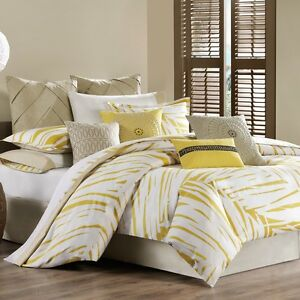 See More Echo Abstract Palm Twin Duvet Cover Cress Gre