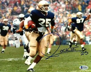 Raghib Rocket Ismail Notre Dame Signed 8x10 Photo Autoraph BAS Beckett COA *34