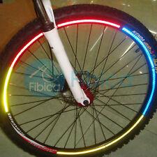 New BMX Bike Safety Light Reflective Sticker Rim Wheel Luminous Yellow