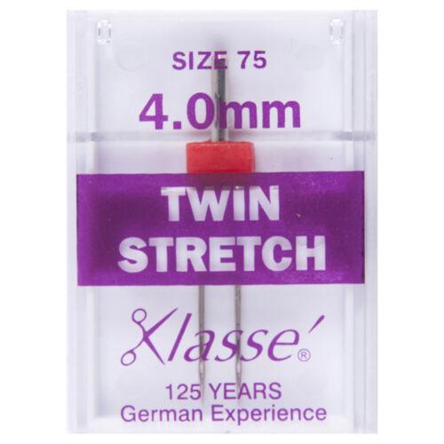 10x Sewing Machine Needles Twin Stretch 75//2.5mm 1 Piece Sewing Craft