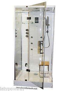 Image Is Loading Steam Shower Cabin With Aromatherapy  Hydro Massage Bluetooth