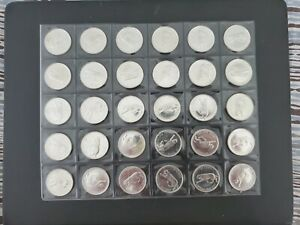 1967-Canada-Silver-25-Cent-Coins-From-An-Original-Roll