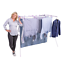 thumbnail 1 - Mrs Peggs Classic 10 Line Clothesline Outdoor Indoor Portable Airer Clothes Line