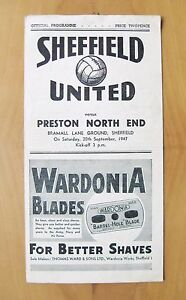 SHEFFIELD UNITED v PRESTON NORTH END 19471948 VG Condition Football Programme - London, United Kingdom - Returns accepted Most purchases from business sellers are protected by the Consumer Contract Regulations 2013 which give you the right to cancel the purchase within 14 days after the day you receive the item. Find out more about y - London, United Kingdom