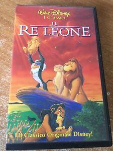 Vhs il re leone walt disney cartoni animati classico originale ebay
