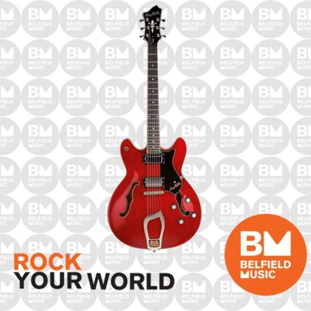 Hagstrom Viking Electric Guitar Semi-Hollow Wild Cherry Transparent w/ Hardcase