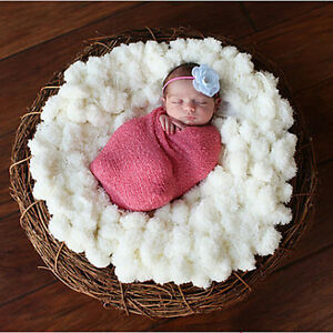 Baby Soft Photography For Photo Props Blanket 60*60cm white Newborn Clothes S&K