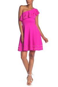 ee593caf97 NWT Ted Baker One Shoulder Knitted Skater Dress Streena Pink  259 ...