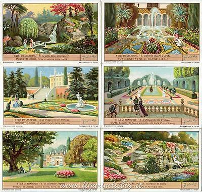 Chromo Liebig Sang. 1336 Ita Stili Di Giardini Anno 1936 Essere Altamente Elogiati E Apprezzati Dal Pubblico Che Consuma