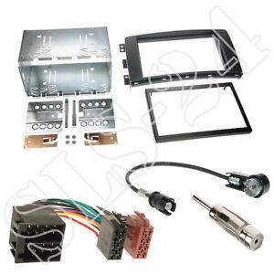MITSUBISHI LANCER CYO ab07 DIN Blende Radioblende ISO Radio Adapter Antenne SET