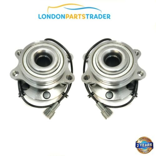 2X S/'adapte Pour NISSAN Navara NP300 D40 2.5 dCi Avant ABS HUB Wheel Bearings Kit