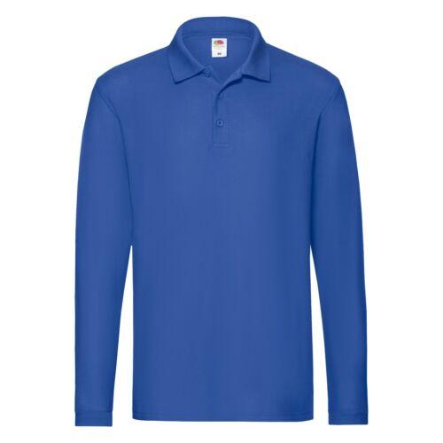 Fruit of the Loom Long Sleeve Cotton Pique Polo Shirt