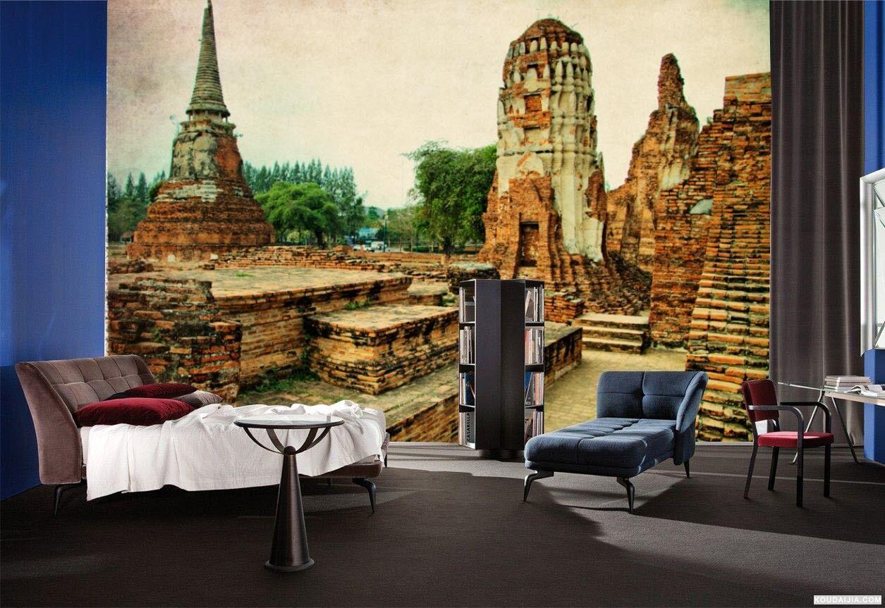 3D Thailand Ruinen 84 Tapete Wandgemälde Tapete Tapeten Bild Familie DE
