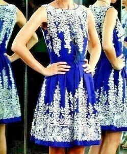 Naeem-Khan-Embellished-Embroidered-Pearl-Blue-Cocktail-Dress-IT-44-46-US-8-10