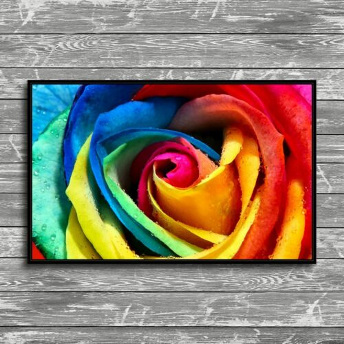 "12/""x20/""Colorful Rose Flowers Painting HD Print Canvas Home Decor Room Wall Art"