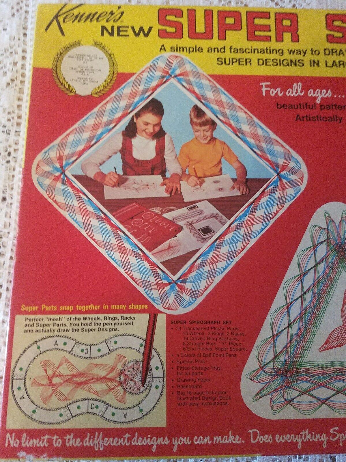 Vintage Vintage Vintage Original 1969 Kenner's Super Spirograph Set