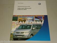 SSP 329 VW Selbststudienprogramm Service Training Wohnmobil California 2004
