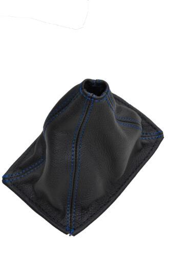 Bleu double stitch fits TOYOTA MR2 MK1 AW11 1985-1989 noir en cuir Gaiter