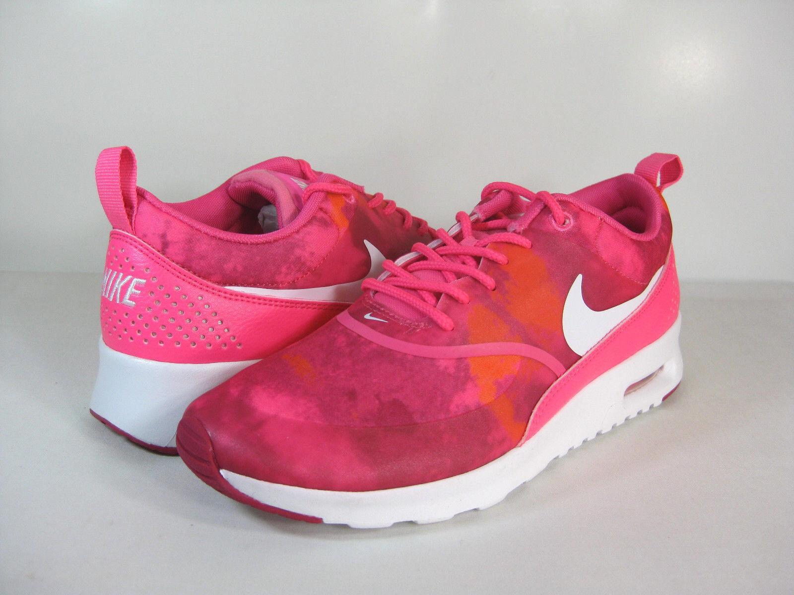 NIKE WMNS AIR MAX THEA PRINT Pink Pow/White-Fireberry-Total Orange -599408 602- Seasonal price cuts, discount benefits