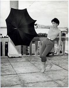 Photo-Giancolombo-Gina-Lollobrigida-Tirage-argentique-d-039-epoque-1965
